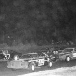1978 Start of Feature at Eriez Speedway - Tracy Thompson on Pole Ron Hebner Off Pole Rod Maloy in 4th Position