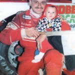 1994 Stateline Speedway Victory Lane with son, Kevin, 4 mos.